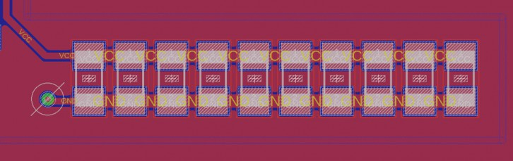 Równoległe połączenie kondensatorów SMD