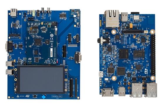 Dwie z dostępnych płytek ewaluacyjnych dla STM32 MP1