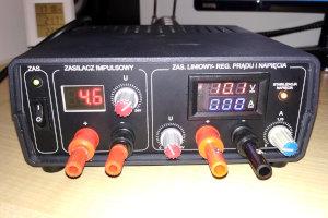 Prosty zasilacz laboratoryjny z ogranicznikiem prądu.