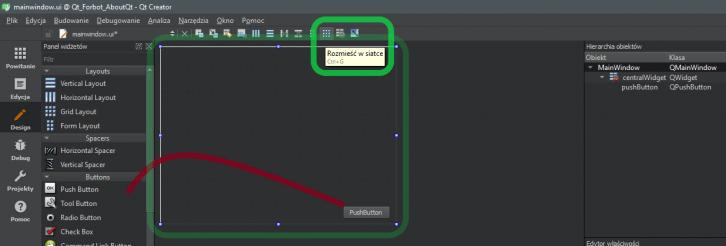 Umieszczanie elementów interfejsu