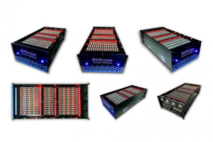 Klaster BitScope jest bardzo zwartą i estetyczną konstrukcją