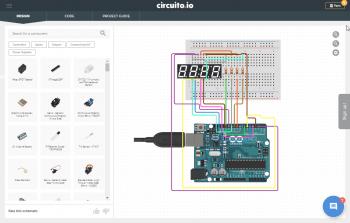 Element połączony z Arduino przez płytkę stykową