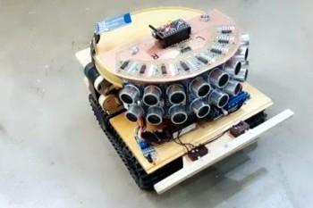 Ultradźwiękowe oczy – robot z 8 czujnikami odległości