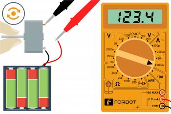 Pomiar prądu przy lekko obciążony wale