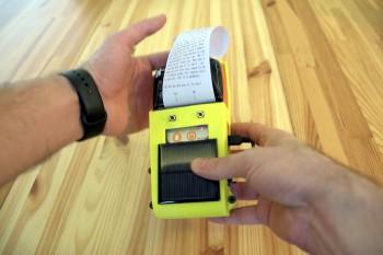 Konsola do gier tekstowych DIY z drukarką termiczną