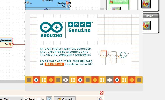 Splashscreen Arduino IDE widoczny podczas wgrywania programu