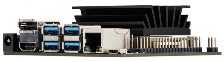 Złącza zestawu Jetson Nano Development Kit