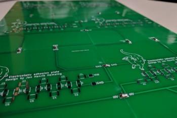 PCB stworzone w ramach projektu