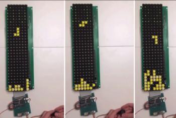 Zagraj w Tetrisa na wyświetlaczu elektromagnetycznym