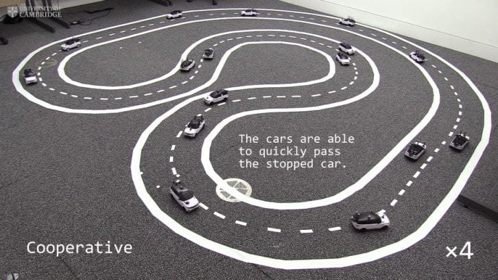 Samochody z włączonym trybem kooperacji