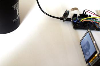 Stanowisko testowe dla kamery