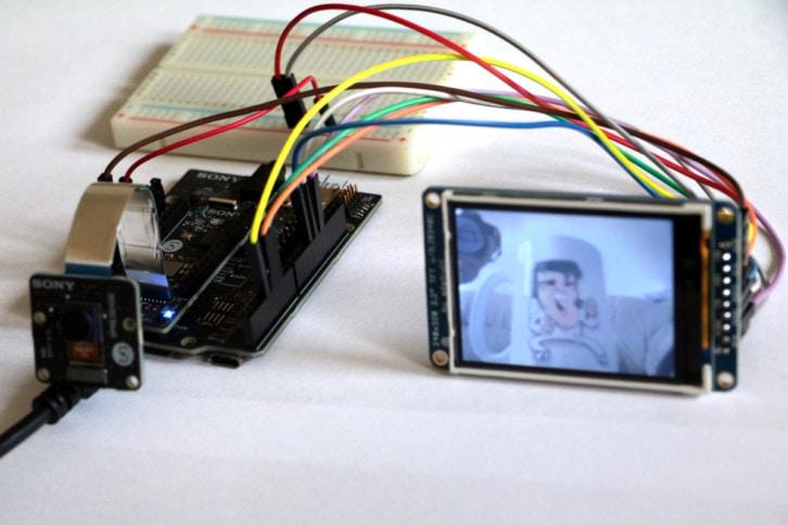 Kolejny test kamery podłączonej do Arduino