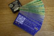Oryginalna wizytówka PCB z miniaturowym tagiem NFC