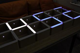 Arduino w akcji – zegar cyfrowy wbudowany w półkę