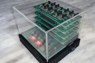 4-bitowy kalkulator z rezystorów i tranzystorów