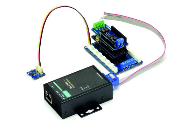 Gotowy układ testowy, w którym Arduino symuluje przemysłowy czujnik korzystający z Modbusa