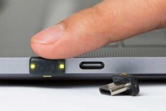 Aktywacja klucza YubiKey za pomocą sztucznego palca
