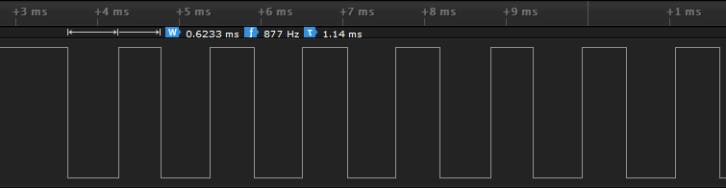 Zbliżenie na dane odebrane po naciśnięciu przycisku
