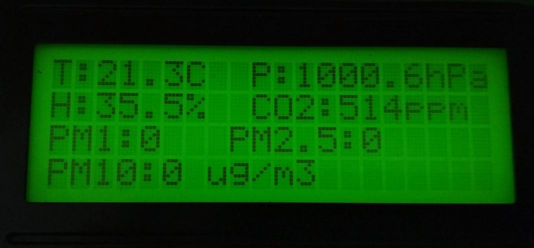 Stacja Pogodowa z pomiarem pyłów, temperatury, ciśnienia, wilgotności