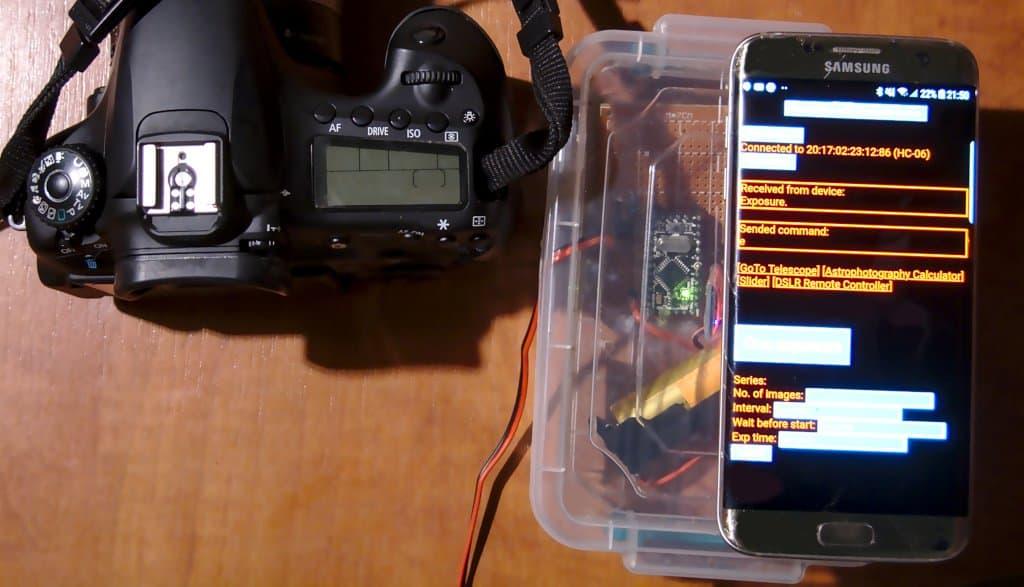 Wyzwalacz Bluetooth z interwałometrem do lustrzanki cyfrowej Canon EOS