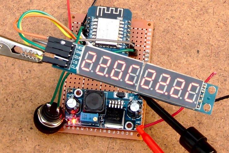 Zdalny (RF433MHz) monitoring warunków w zagrodzie poprzez stronę internetową