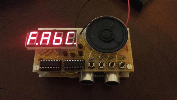 Pianinko z regulacją wysokości dźwięku za pomocą czujnika odległości
