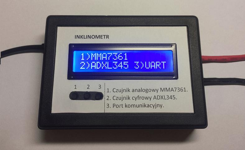 Inklinometr z wykorzystaniem akcelerometru MEMS