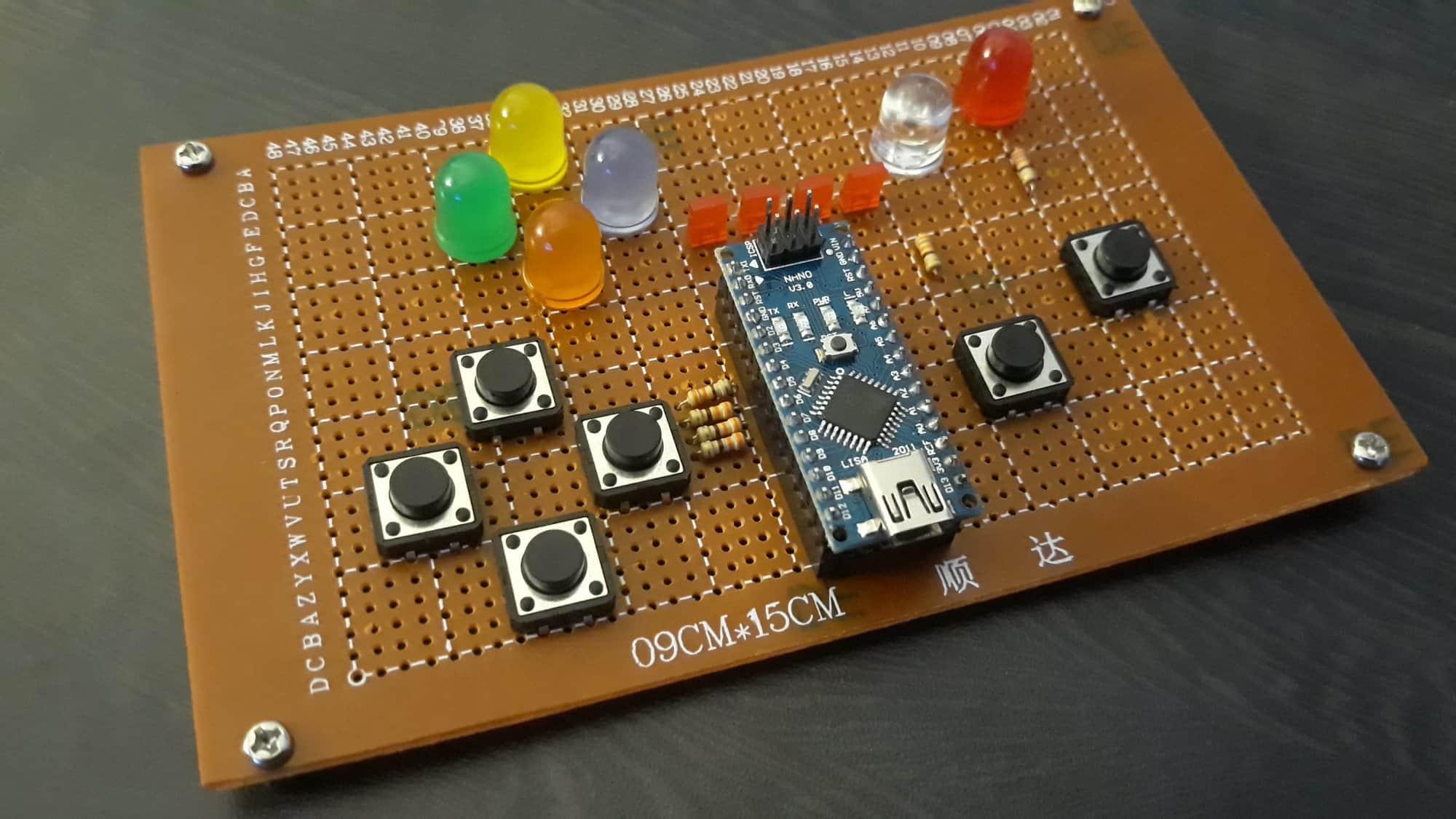 NanoPad mini projekt do ćwiczenia refleksu