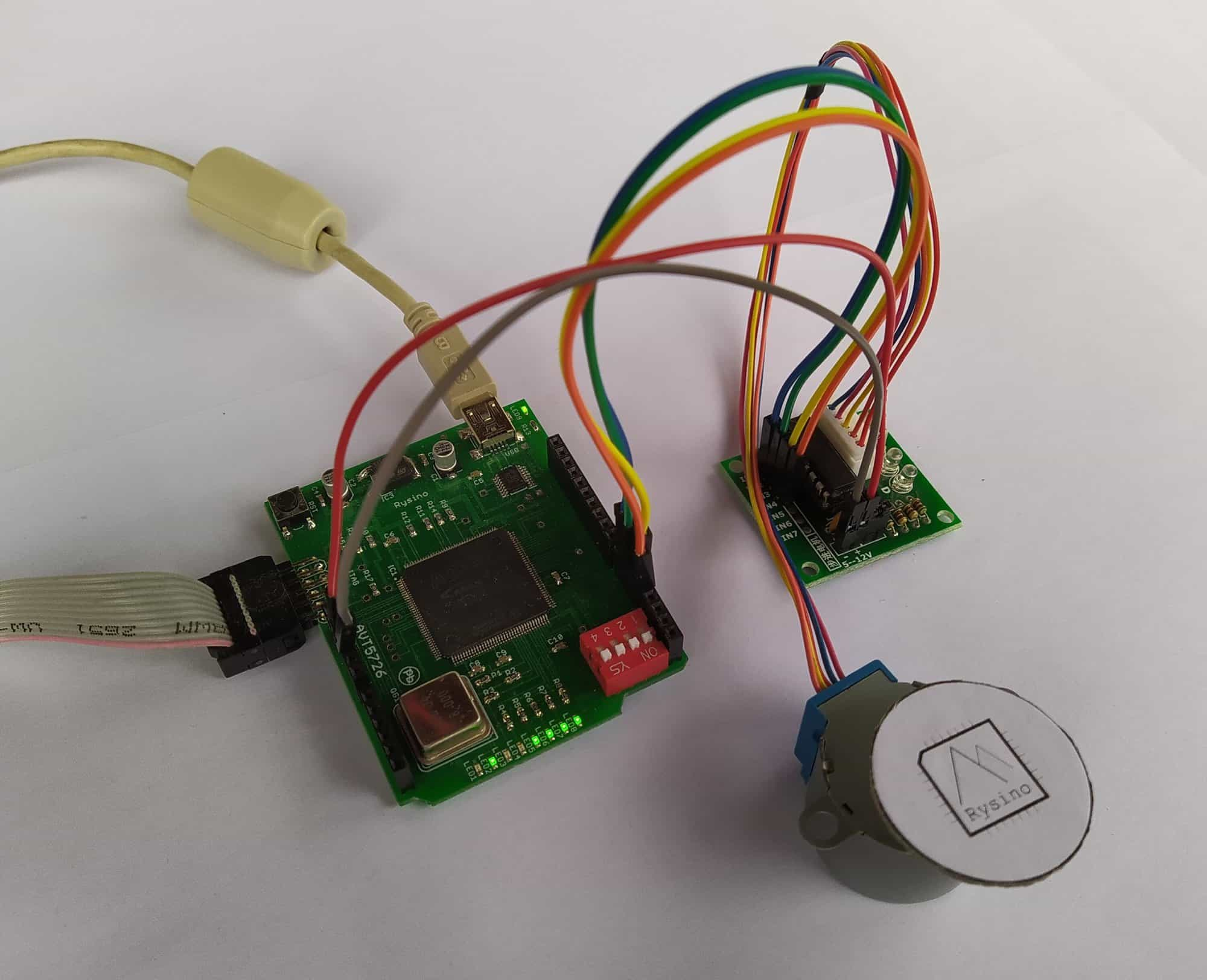 Silnik krokowy sterowany z układu FPGA