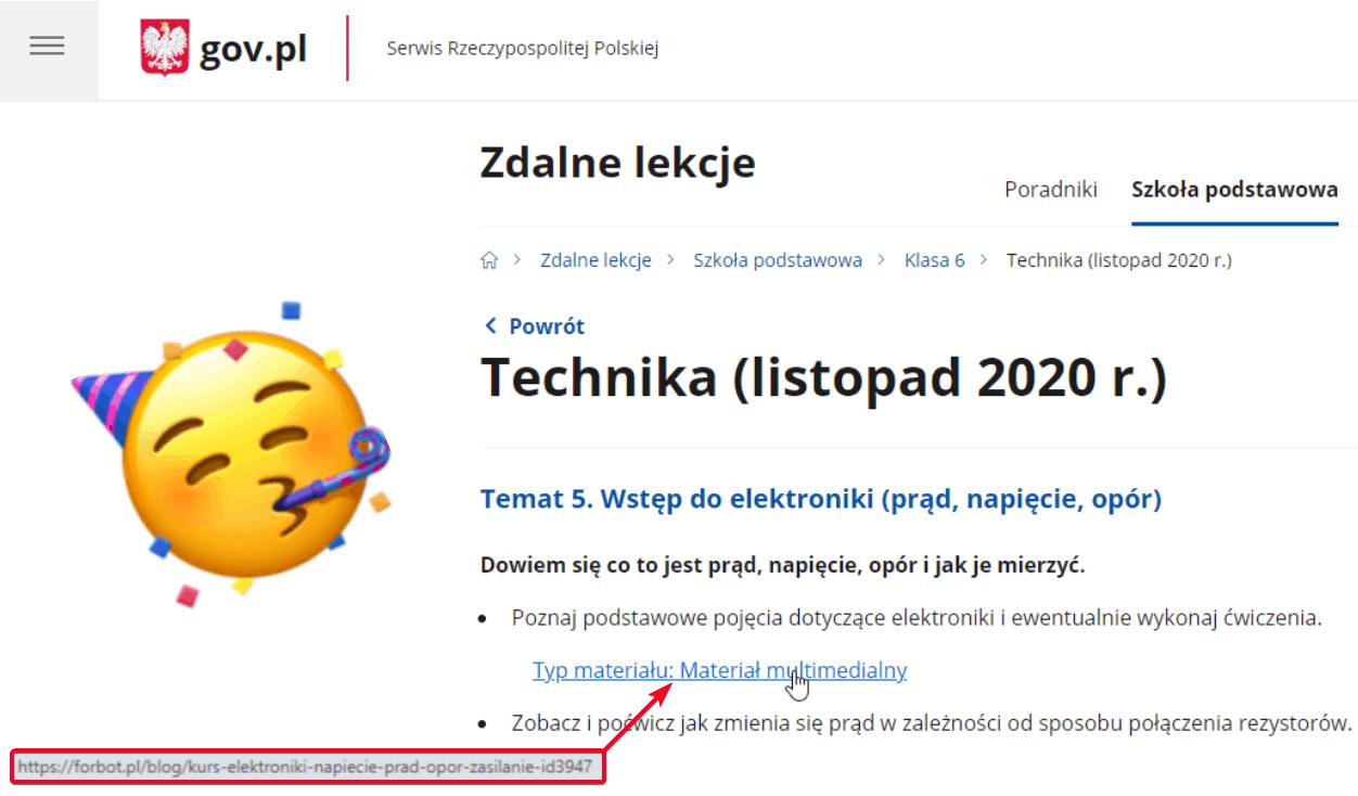 Rządowy serwis gov.pl rekomenduje... kursy Forbota