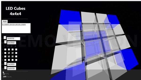 Led Cubes 4x4x4 – programowanie warstw