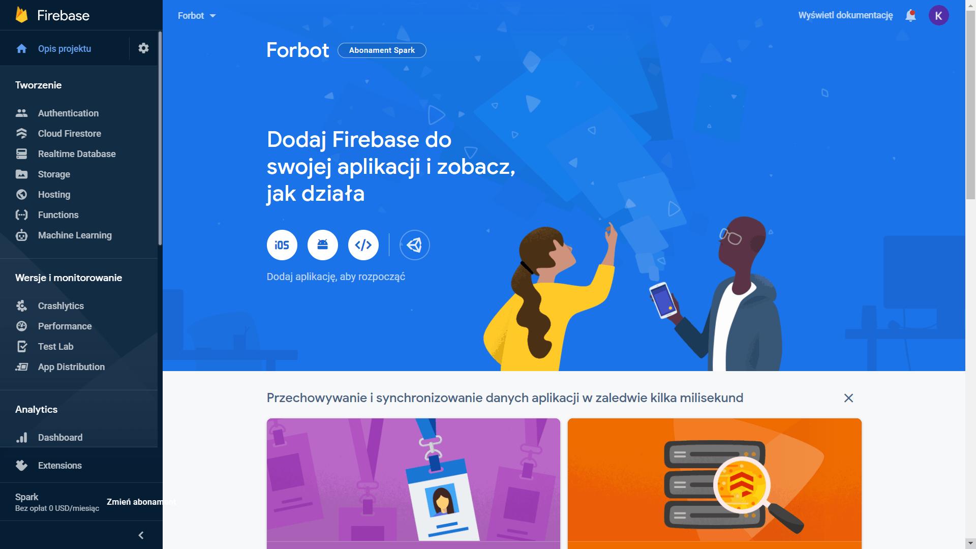 Firebase w zastosowaniach IoT - #1 - Czym jest Firebase? Jak zacząć?