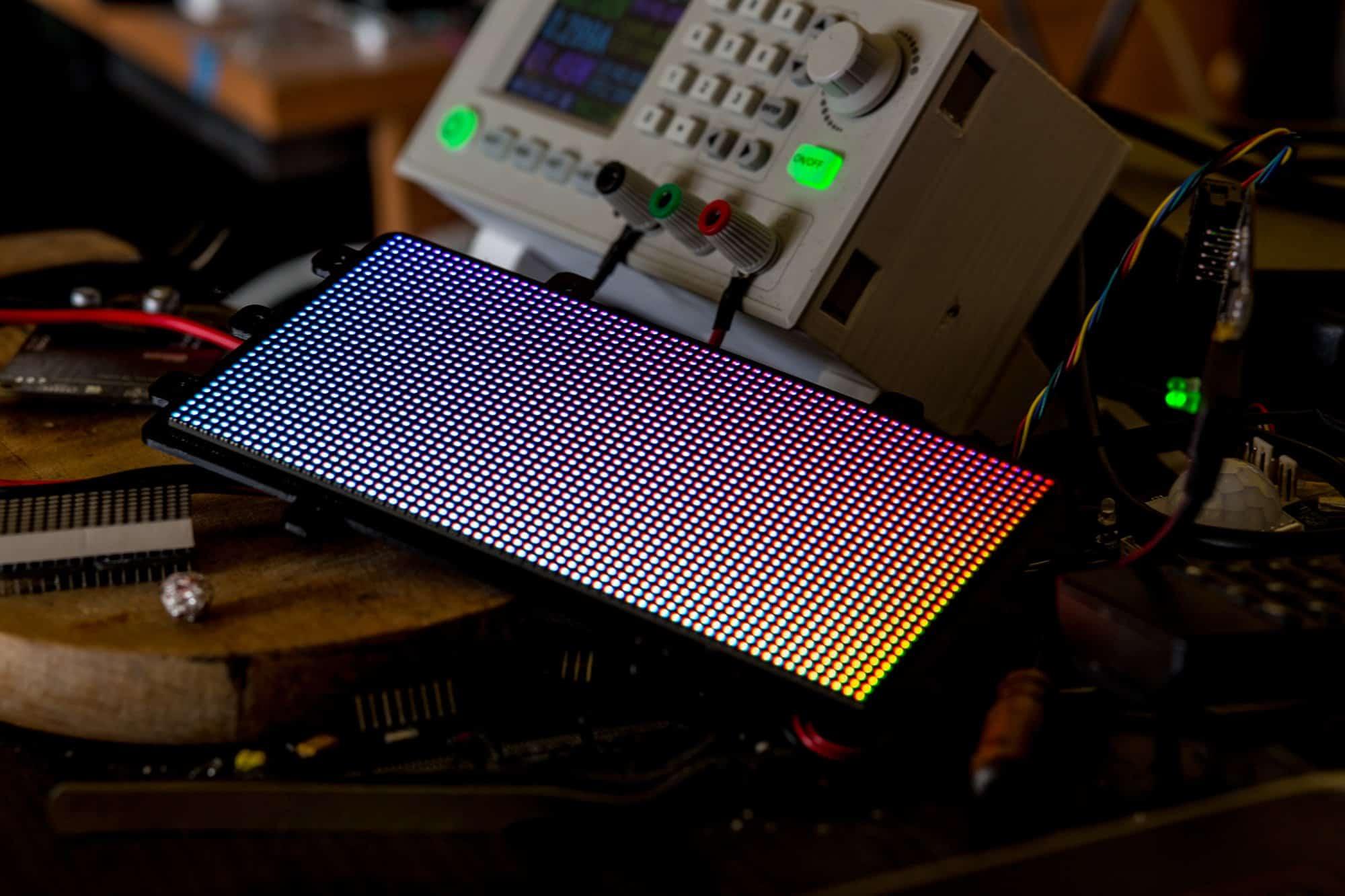 Sterownik matryc LEDowych z interfejsem hub75 na STM32F730